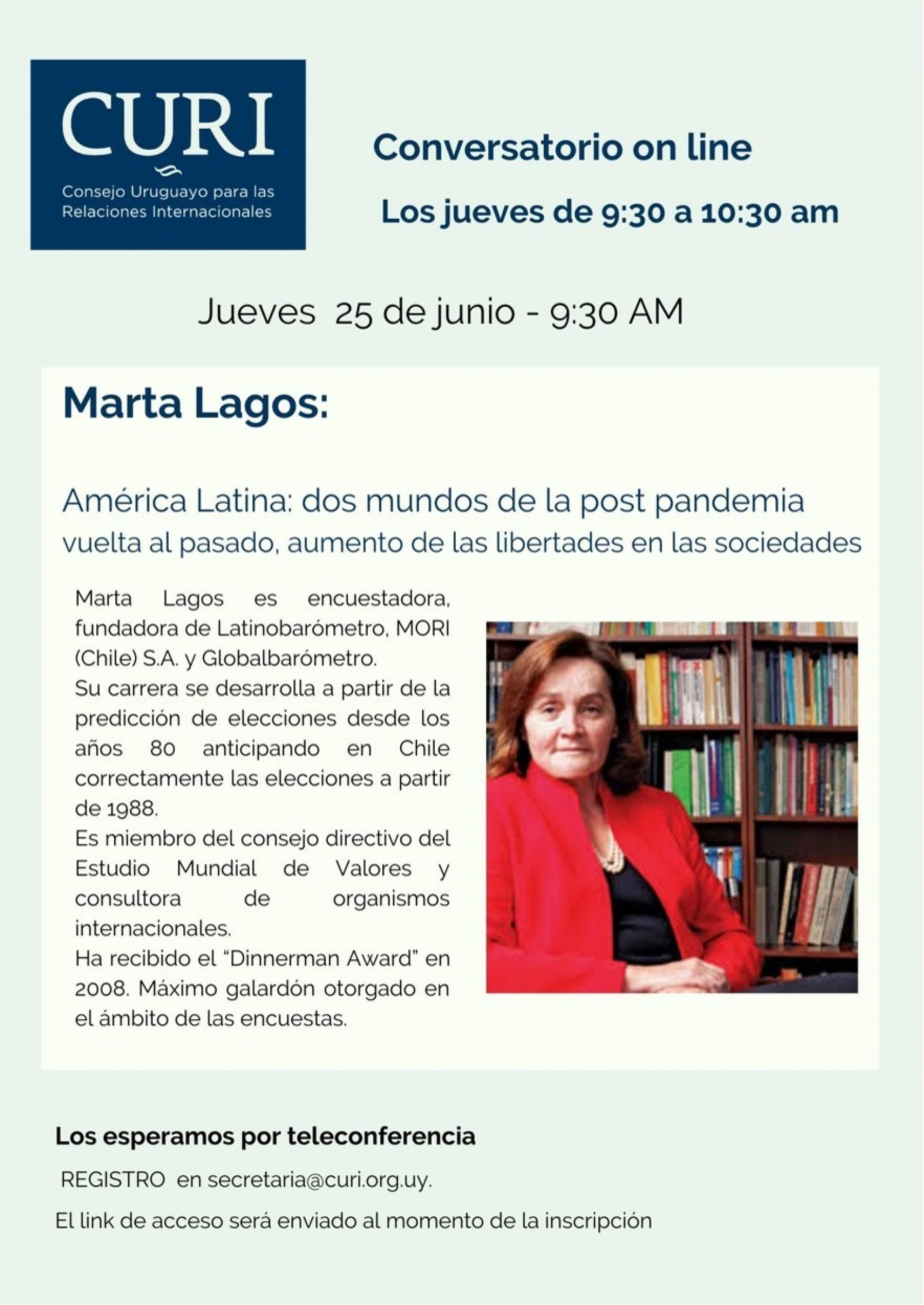 CURI ON LINE con Marta Lagos