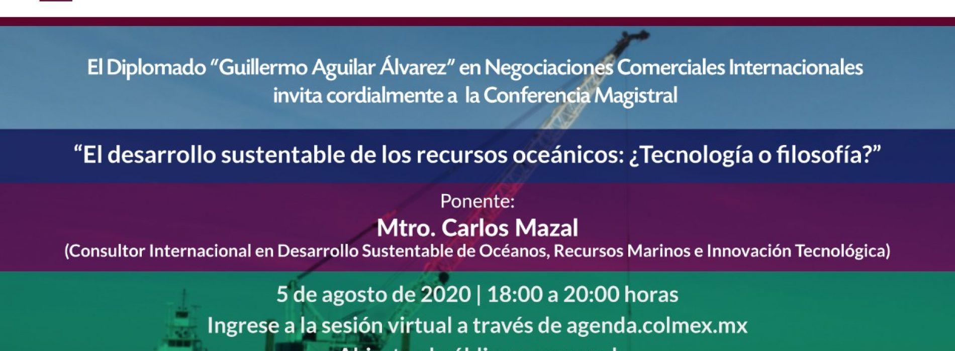 Evento de El Colegio de México con el Consejero Carlos Mazal