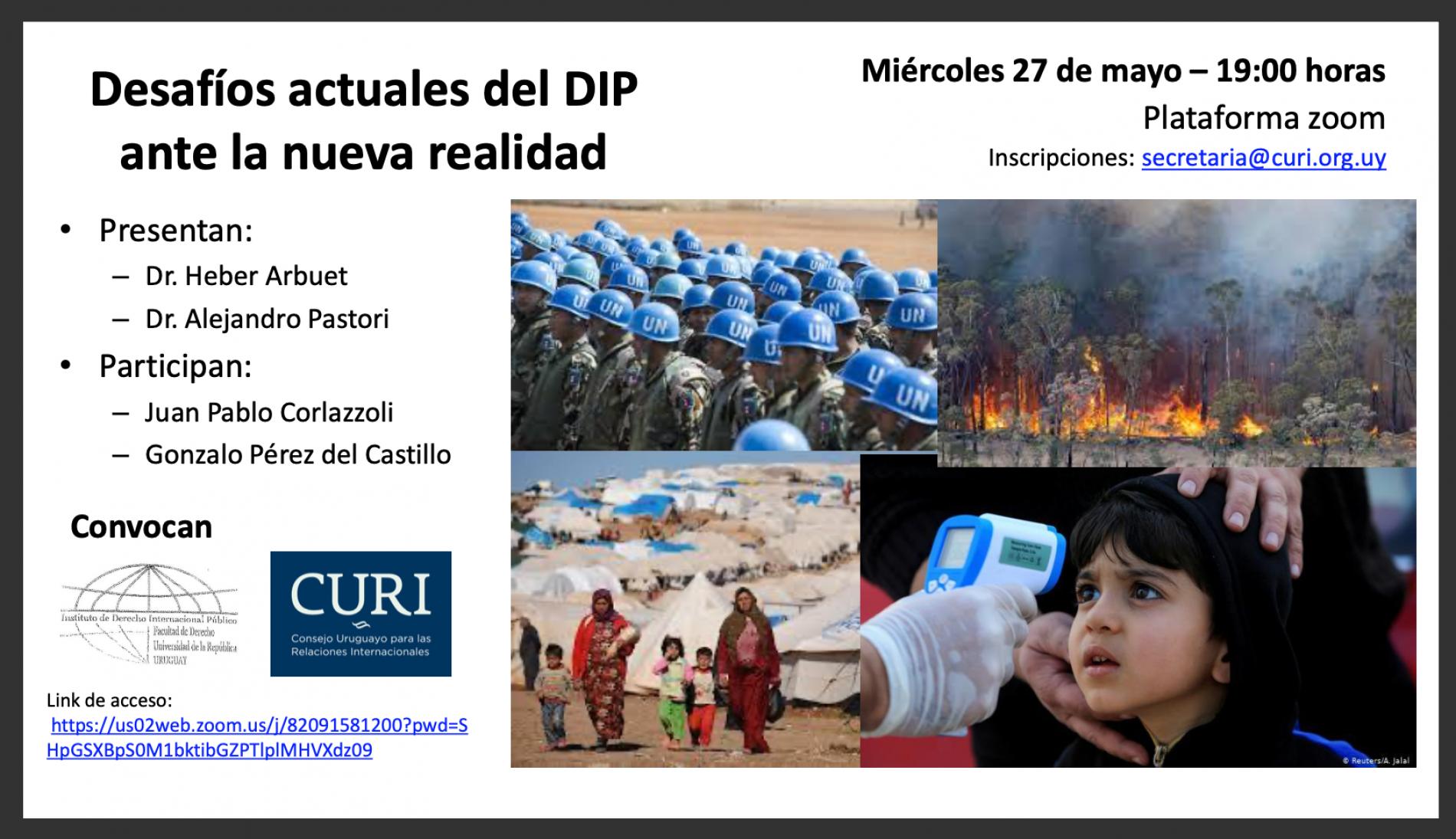 """Conferencia : """"Desafíos actuales del DIP ante la nueva realidad"""""""