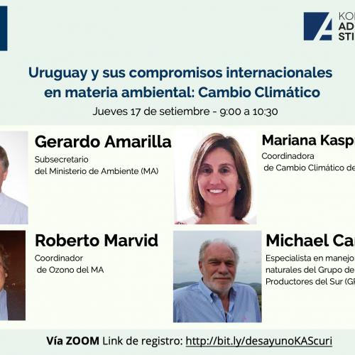 """Evento: """"Uruguay y sus compromisos internacionales en materia ambiental: Cambio Climático""""."""