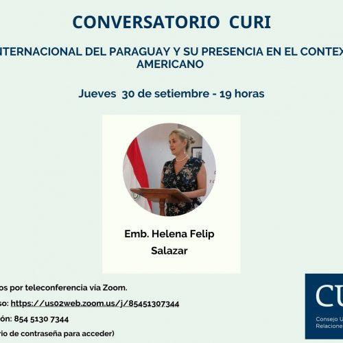 Conversatorio CURI: POLITICA INTERNACIONAL DEL PARAGUAY Y SU PRESENCIA EN EL CONTEXTO LATINO AMERICANO