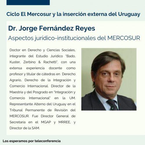 Ciclo El MERCOSUR con Dr. Jorge Fernández Reyes