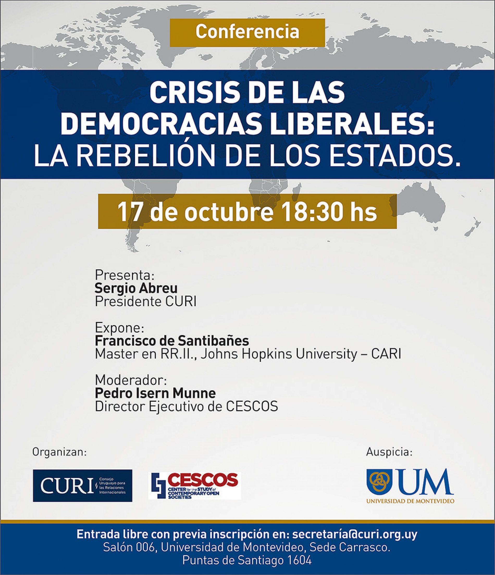 Conferencia: Crisis de las democracias liberales