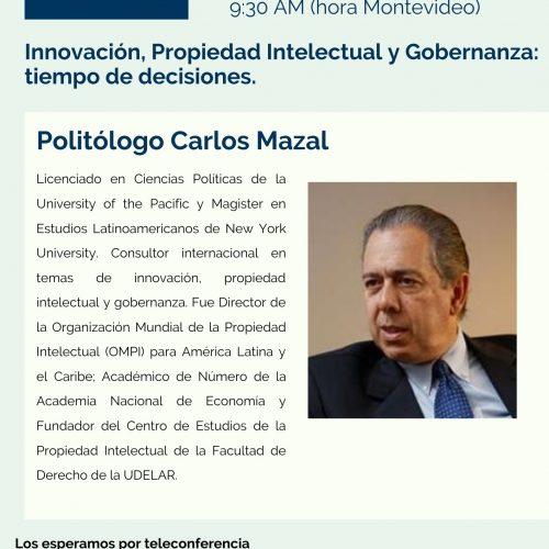 Conversatorio CURI ONLINE con Politólogo  Carlos Mazal