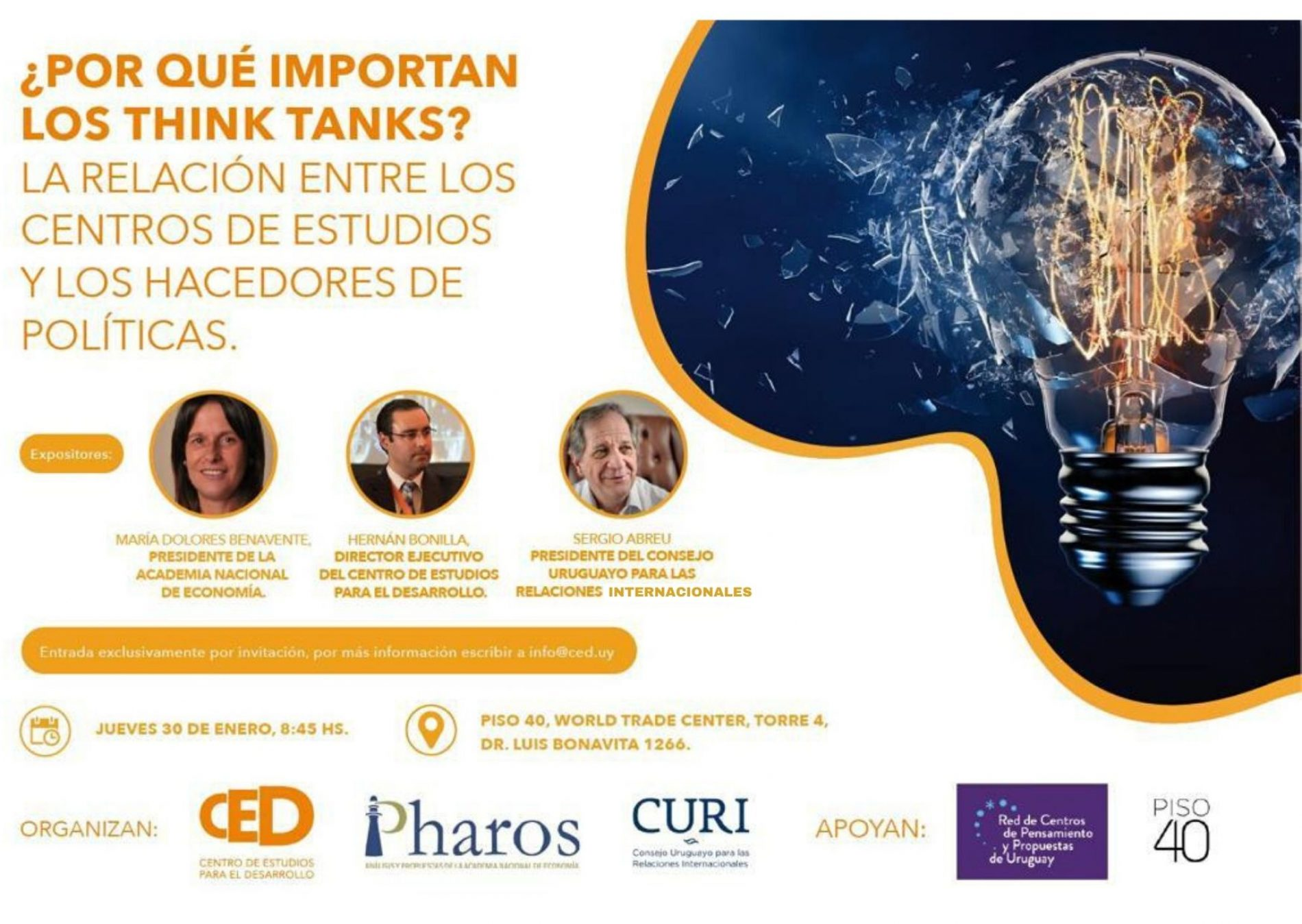 Evento: ¿Por qué importan los think tanks? La relación entre los Centros de Estudio y los hacedores de Políticas