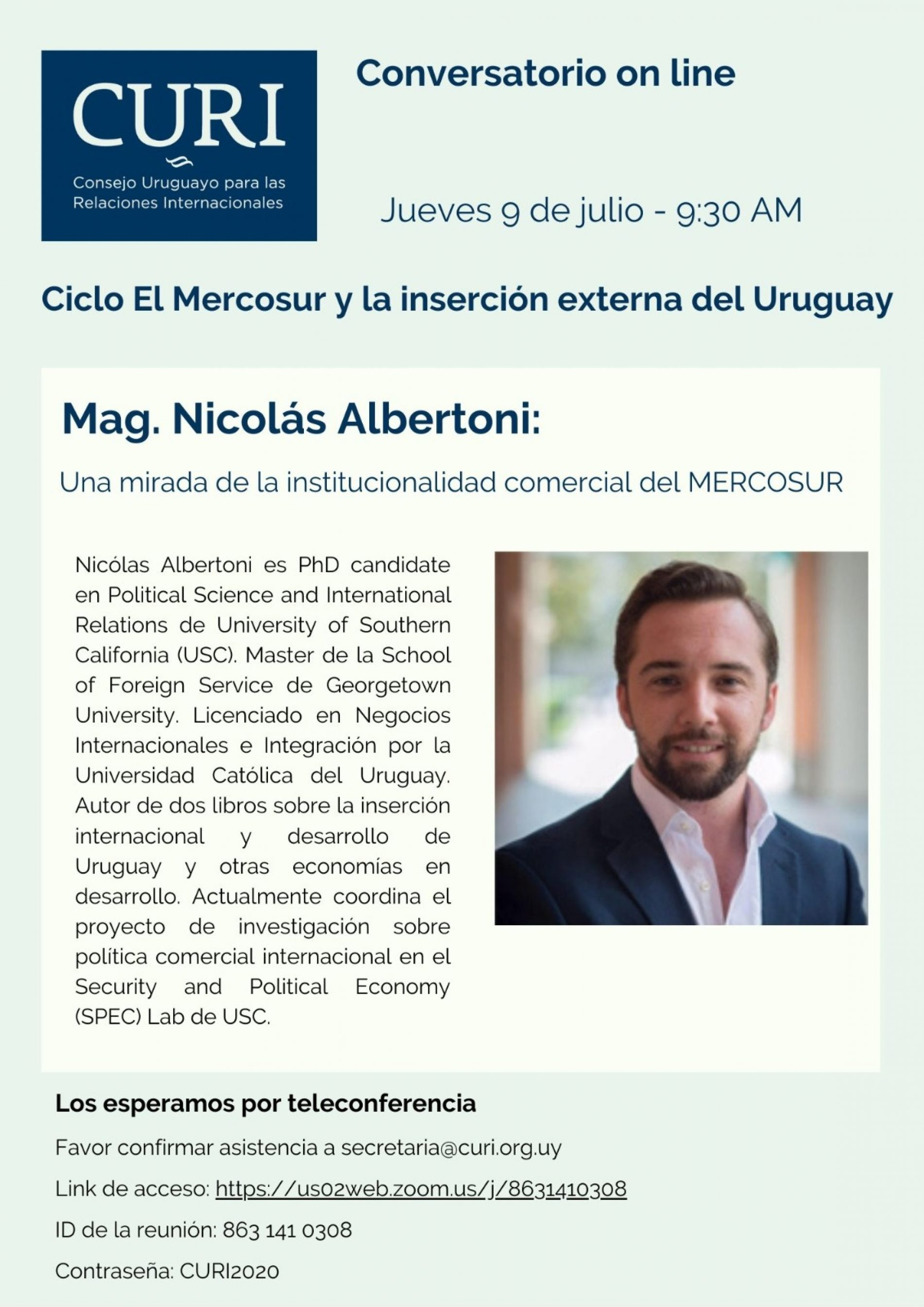 Ciclo El Mercosur con Nicolás Albertoni